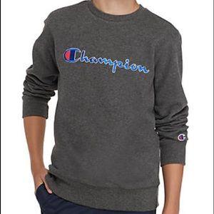 Champion Heritage Crew Neck Sweatshirt Gray M NEW
